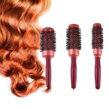 Round Hair Combs Aluminum Roll Brush DIY Hair Curling Comb Hair Scalp Massage Comb Hair styling hairdressing tools S/M/L