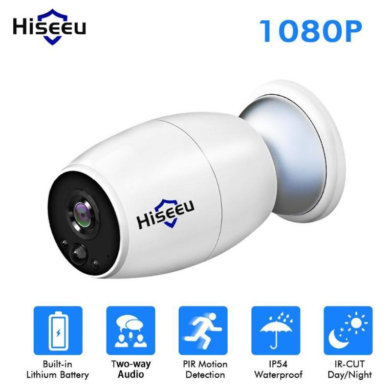 Hiseeu enregistreur vidéo caméra sans fil WiFi IP caméra 1080 P FHD 2 voies Audio caméscope maison intérieure extérieure sécurité caméra PIR capteur