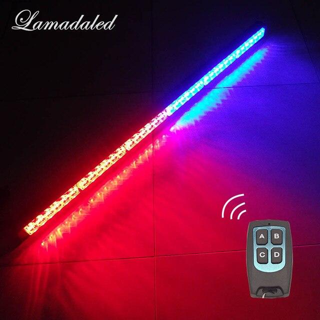 36 LED remote car led Strobe Light bar 35'' 95cm police warning Lights beacon emergency flash blinking lamp red blue white amber
