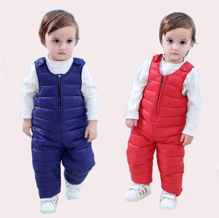 Children Winter Clothes baby Girl boy kids Ski suit set trousers infant jumpsuit rumper pants -30 degree duck down fluff toddler toddler