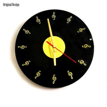 New 3D Wall Clock 30cm Vinyl Records Retro For Living Room Vintage Large Mute Decorative Watch Home Decor