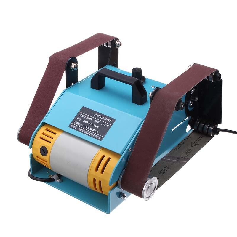 NOUVEAU 950 W 220 V Multi-fonction Ponceuse De Bureau Double Axe Ceinture Ponçage Broyage Machine de polissage outil