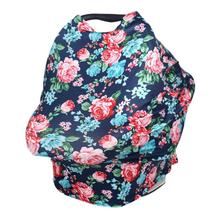 Multi-Use Nursing Covers Scarf Baby Car Seat Stretchy Scarf Breastfeeding Shopping Cart Nursing Cover Mother feeding Baby Cover