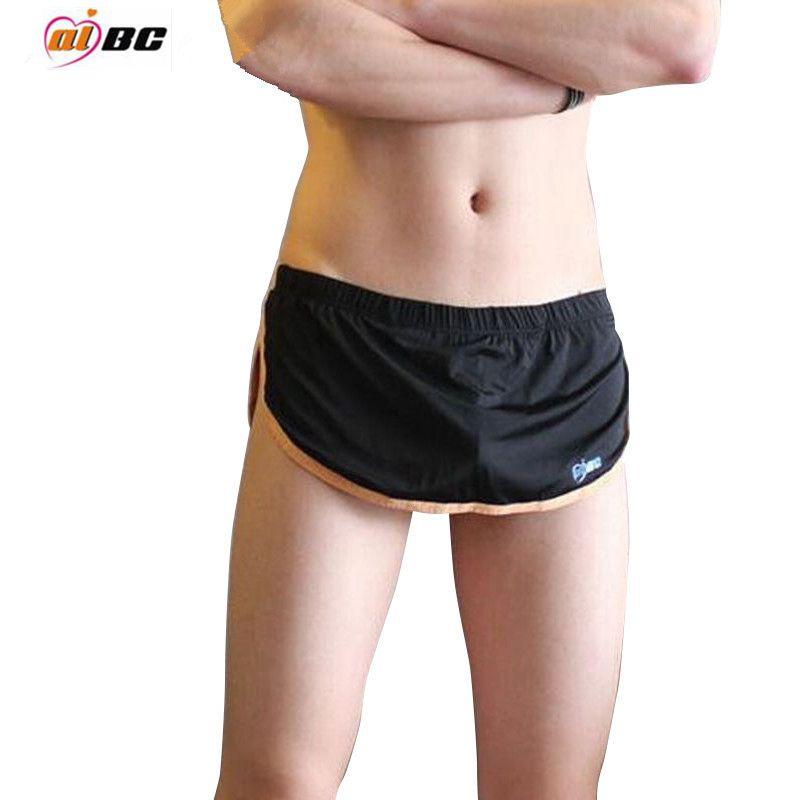 Aibc brändi bokserid seksikas mees aluspüksid mees salong aluspesu vabaaja poksija seksikas mood õmblusteta