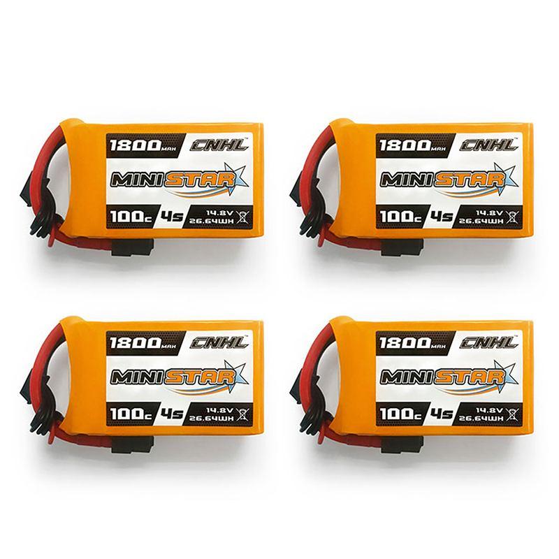 1/4 pcs CNHL MiniStar 4 S/5 S 14.8 V 18.5 V 1800 mAh 100C Lipo batterie avec prise XT60 pour Drone RC FPV Racing pièces de rechange bricolage
