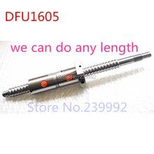 DFU1605 200 250 300 350 400 450 500 550 600 650 700 750 800 ミリメートル C7 ボールねじ 1605 ダブルボールナット BK/BF12 機械加工終了