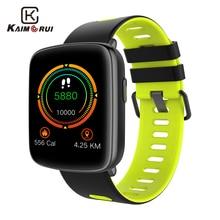 Купить с кэшбэком Kaimoru Smartwatch GV68 2.5D Screen Heart Rate Monitor Pedometer IP68 Waterproof Activity Tracker Smart Watch for Huawei Xiaomi