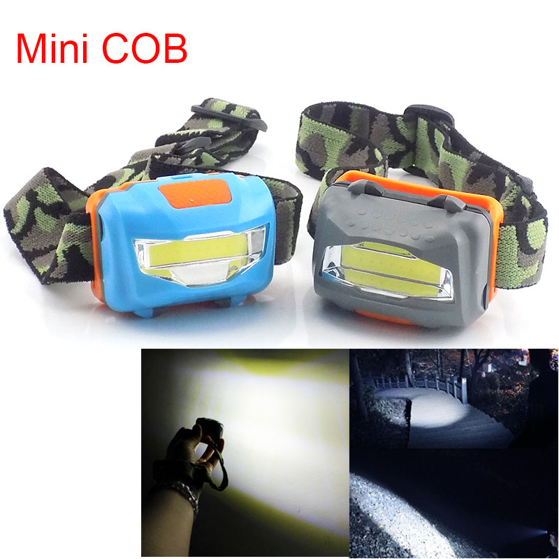 Mini COB Led Frontal Headlamp Flashlight High Power Head Light Torches Lamp Headlight AAA Battery Super Bright Fishing Camping