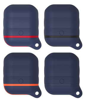 New upgrade  waterproof case for airpods Bluetooth headset  silicone case wholesale