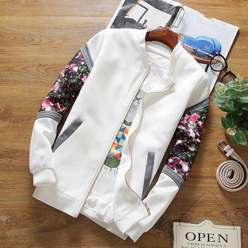 Bomber   Jackets   2019 Spring Causal Flowers Floral Famale   Jacket   Women Coats Zipper Patchwork   Basic     Jackets
