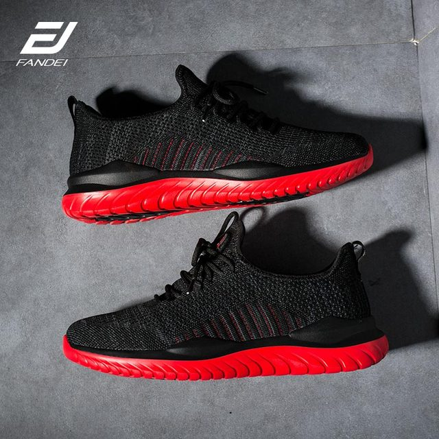 FANDEI Running Shoes For Men Zapatillas Hombre Deportiva Sport Shoes Men Light Sneakers Sport Shoes Men Flyknit Upper Non-Slip 3