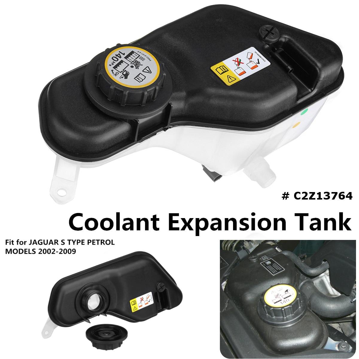 Expansion Coolant Tank With Sensor & Cap C2Z13764 For JAGUAR S TYPE 2002-2009 Petrol ModelsExpansion Coolant Tank With Sensor & Cap C2Z13764 For JAGUAR S TYPE 2002-2009 Petrol Models
