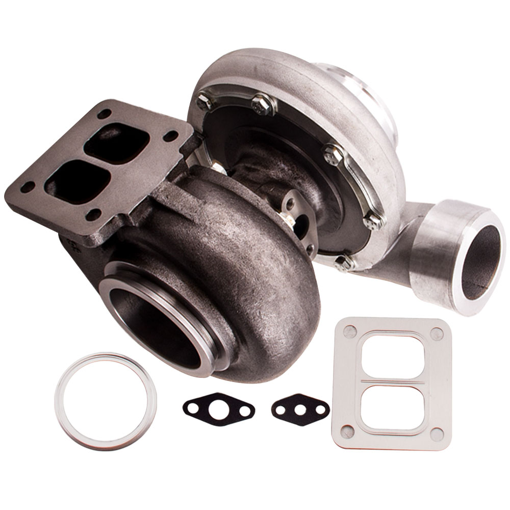 Universal GT45 <font><b>Turbo</b></font> T4 <font><b>T66</b></font> Wet Float A/R .66 A/R 1.05 V-band Turbocharger for Ford XR6 Falcon 4.0i A/R 1.05 turbine .66 A/R image