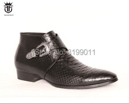 FR. LANCELOT/2019 кожаные туфли с острым носком, Мужские модельные туфли, деловые туфли с пряжкой, мужские свадебные туфли, низкие Туфли с принтом зм