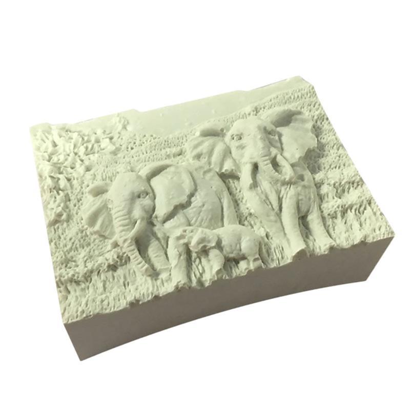 1Pc Silicone Mold Elephant Family Fondant Cake DIY Chocolate Mold Fashion Cute Elephant Pattern Silicone Chocolate Mold Tools in Cake Molds from Home Garden