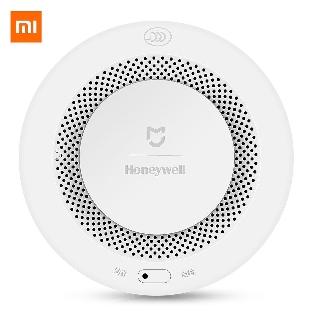 Оригинальный Xiao mi jia Honeywell Датчик дыма пожарный датчик сигнализации звуковой визуальный датчик дыма дистанционный mi Home Smart APP управление