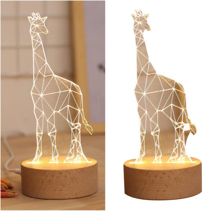 The Best Cartoon Giraffe Led Night Light Creative Living Room Study Room Decoration Table Lamp Room Decoration Decoration Lamp Quell Summer Thirst Led Lamps Lights & Lighting