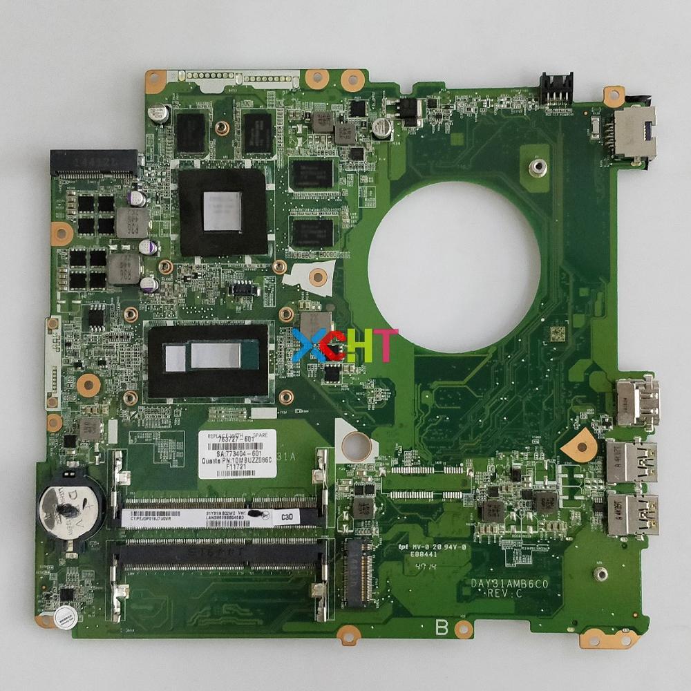 763727 601 763727 001 763727 501 DAY31AMB6C0 W 850M/4GB W I7 4510U For HP 17T K000 17 K Series Notebook PC Motherboard Mainboard