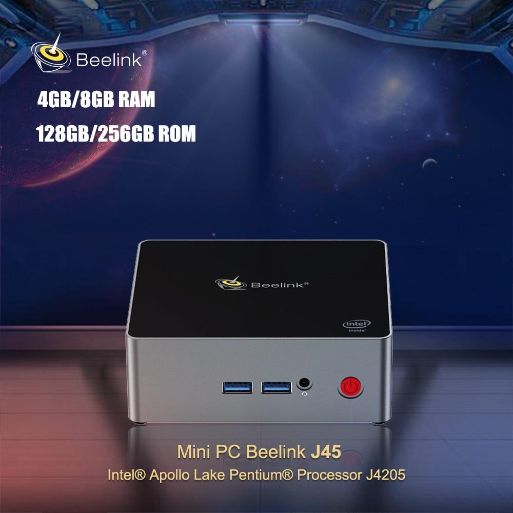 Beelink J45 Mini PC Intel Pentium Apollo Lago J4205 Janelas 10 Quad Core Set Top Box 2.4 GHz/5.8 GHz Wi-fi BT4.0 1000Mbps 4K H.265
