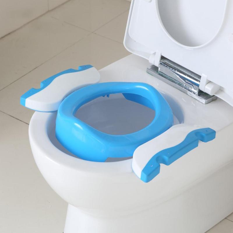 2 Farben Baby Wc Training Seat Kinder Poop Baby Einstellbare Sitz Mit Leiter Falten Kinder Wc Ausbildung Stuhl GläNzende OberfläChe