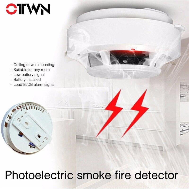 Rote Led Blinkt Photoelektrische Rauchmelder Rauch Alarm Feuer Sicherheit Monitor Warnung Sensor Drahtlose Feuer Detektor SchöNe Lustre Sicherheit & Schutz