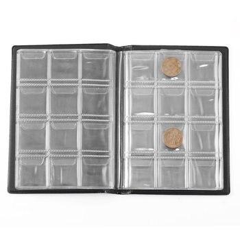 Portable 120 colección de monedas libro titulares dinero Penny bolsillo Carpeta de álbum de la colección de monedas titular