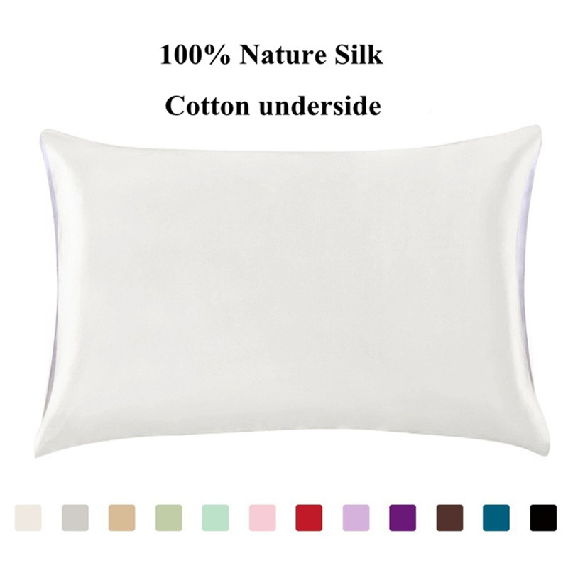 Silk Pillowcases One Side Free Shipping 100 Mulberry
