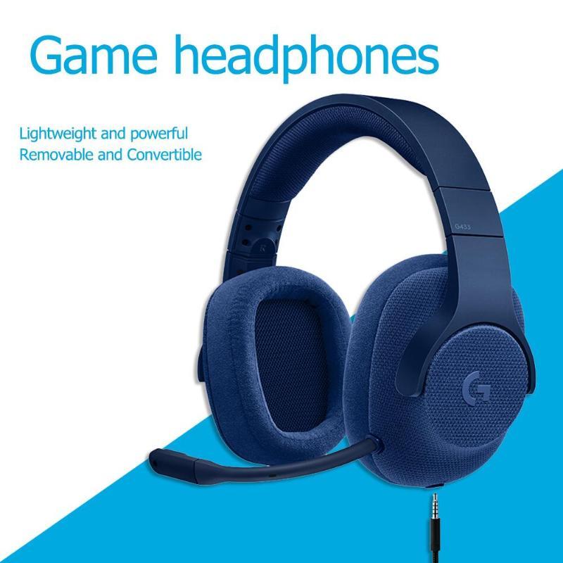 Tüketici Elektroniği'ten Kulaklık/Mikrofonlu Kulaklık'de Logitech G433 Kablolu Oyun Kulaklık X 7.1 Surround oyun kulaklığı PC/PS4/PS4 PRO/Xbox One/ xbox One S/Nintendo/Anahtarı title=