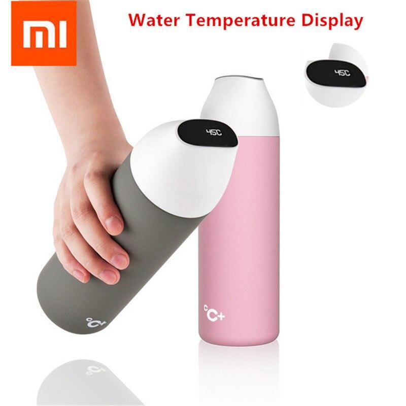 Xiaomi mijia baiser baiser poisson bouteille d'isolation sous vide intelligente 525 ML avec 3 filtres OLED écran de température capteur intelligent CC + tasse H3035