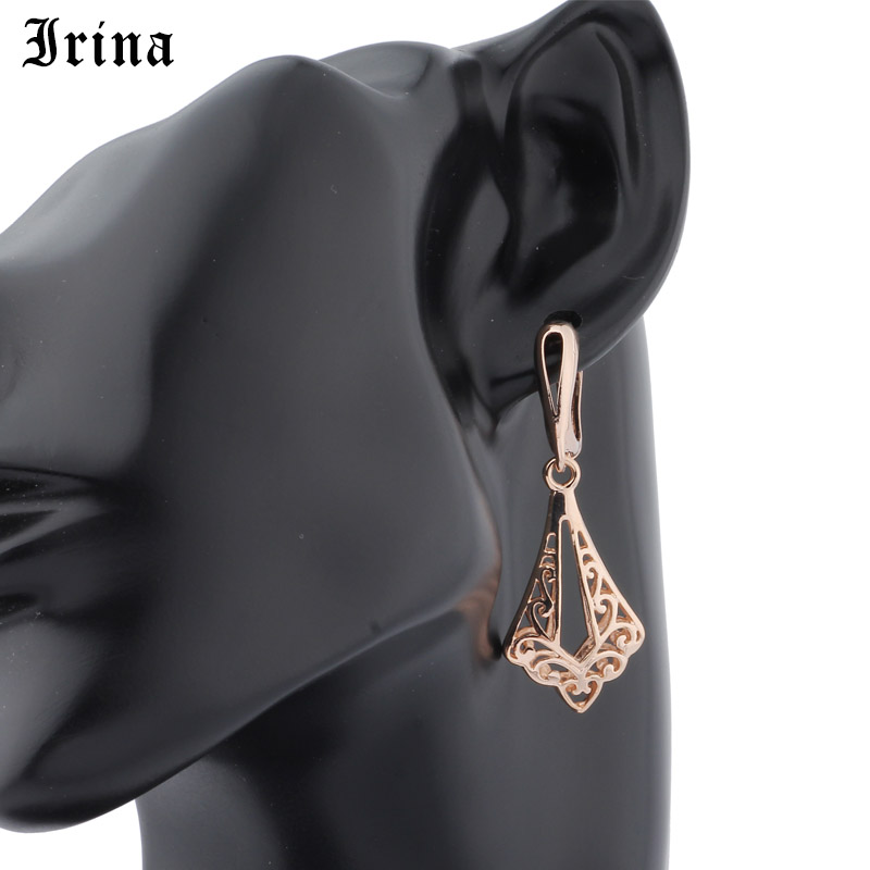 Fine Jewelry Drop Earrings Retro Vintage Hollow Women Rose Gold Long Bohemian Charming Dangle Earrings Wholesale