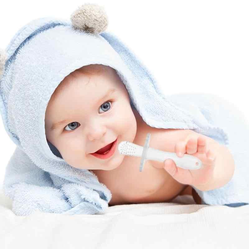 1 шт. детская безопасная силиконовая трость для прорезывания зубов Зубная щетка уход за зубами аксессуары для малышей Прорезыватель жевать игрушка