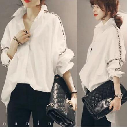 2019 New Summer Spring Vintage Batwing Sleeve Loose Japanese Literary Fat Blouse Shirt White Black 3366