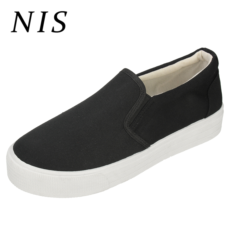 NIS Canvas Slip-on Women Casual Shoes Woman Spring Summer Flat Platform Loafers Student Ladies Shoes Breathable Sport SneakersNIS Canvas Slip-on Women Casual Shoes Woman Spring Summer Flat Platform Loafers Student Ladies Shoes Breathable Sport Sneakers