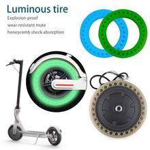 Wear-resistant Luminous Tire Solid Wheels For Electric Scooter Shock Absorption Accessories Xiaomi M365
