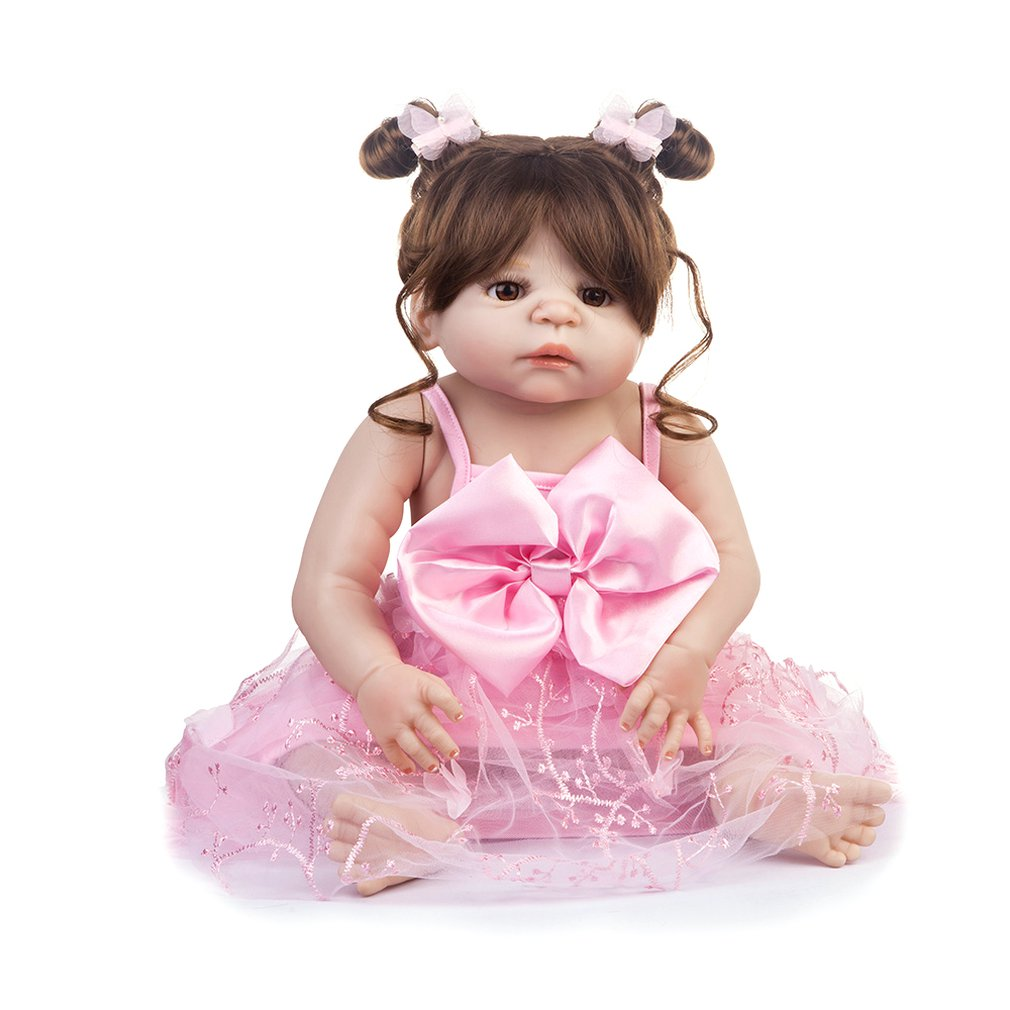 BM0059 Funny Soft Body Silicone Lifelike Dress Reborn Baby Doll Toy Clothes Set For Girls Early Education ToysBM0059 Funny Soft Body Silicone Lifelike Dress Reborn Baby Doll Toy Clothes Set For Girls Early Education Toys