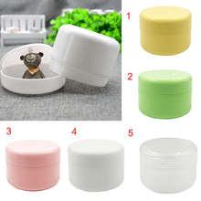 цена на 10PCS Refillable Bottles Plastic Empty Makeup Jar Pot Travel Face Cream/Lotion/Cosmetic Container 5 Colors 10g