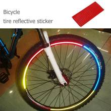 Cycling Car Wheel Motorcycle Tire Tyre Bike Strip Decal Tape Safety Bike Bicycle Parts Bicycle Stickers PVC Reflective Stickers(China)
