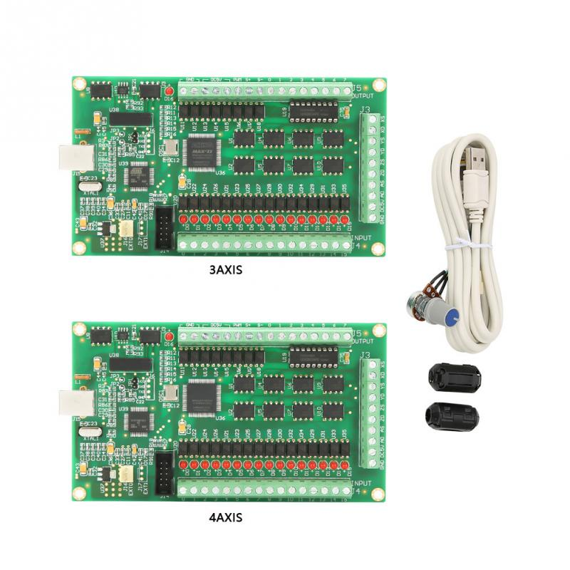 US $106 51 44% OFF|3 /4 USB Mach3 Motion Card 200KHz Breakout Board  Interface for CNC Machine-in CNC Controller from Tools on Aliexpress com |  Alibaba