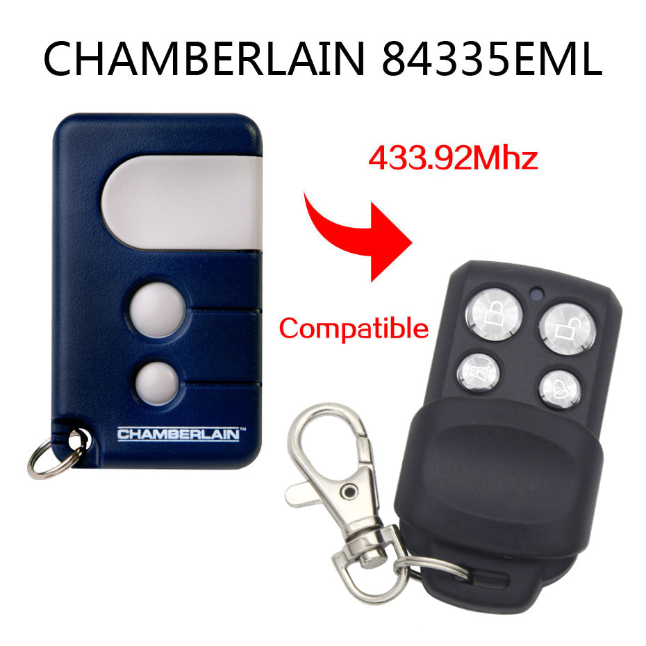 Chamberlain remore control Liftmaster Motorlift <font><b>84335EML</b></font> compatible replacement remote control image