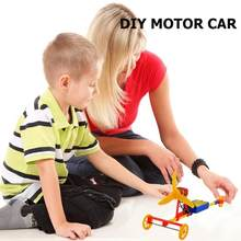 DIY Assembled Power Car F1 Air Paddle Electric Racing Car Model Toys Gifts hildren's Science Toys Children's Creative Toy(China)