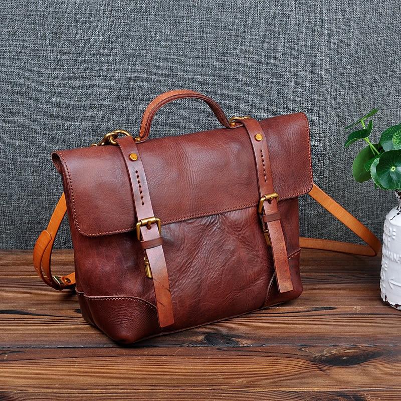 Модные женские сумки ручной работы из растительного дубления, винтажная уникальная сумка на плечо, кошелек из натуральной кожи, кожанные же