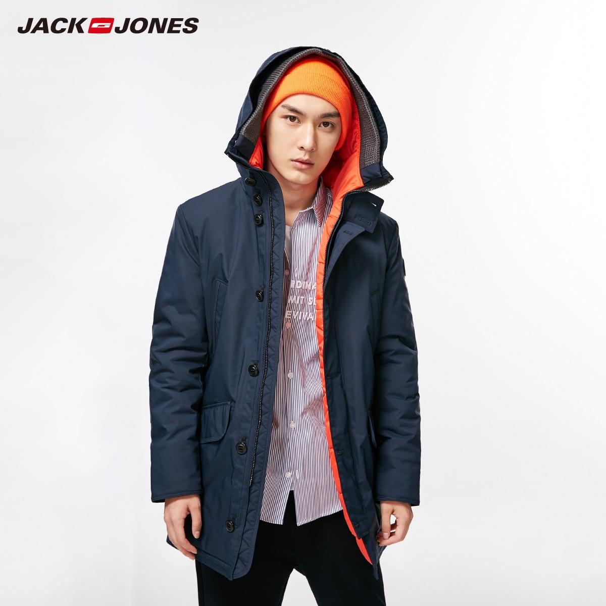 JackJones Hommes D'hiver et Automne Moyen de Style Thermique manteau en coton Slim Fit Collège De Luxe Polaire veste pilote | 218309511