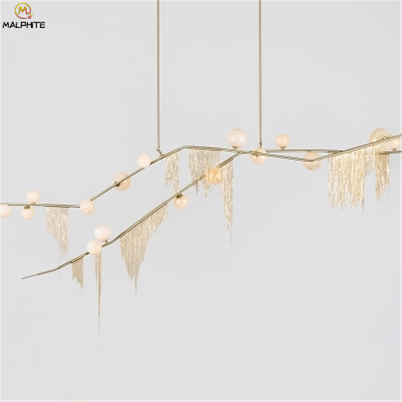 Modern Luxury Pendant Lights Living Room Dining Art Nordic Pendant Lamps American Molecular Glass Hanging Lamps Light Fixtures in Pendant Lights from Lights Lighting