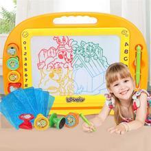 Большой магнитный красочный пластиковый Кульман Детский пазл планшет