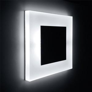 Image 2 - חדש Led קיר אור 3W כיכר אקריליק פמוט קיר שקוע footlight מקורה מדרגות צעד דקורטיבי לילה אורות מודרני קיר מנורה