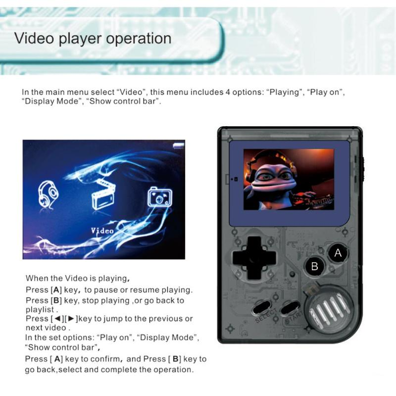 Rétro Jeu Console 2.0 Pouces D'écran GBM 32 Peu Portable Mini joueurs de jeux mobiles Intégré 169 Jeux Classiques Cadeau Jouet pour de Kifs