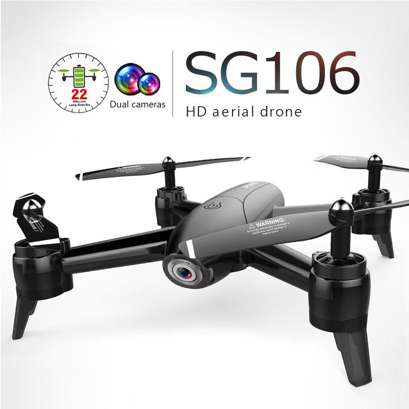En Stock SG106 RC Drone flux optique 1080 P HD double caméra en temps réel vidéo aérienne RC quadrirotor avion positionnement RTF jouets enfant