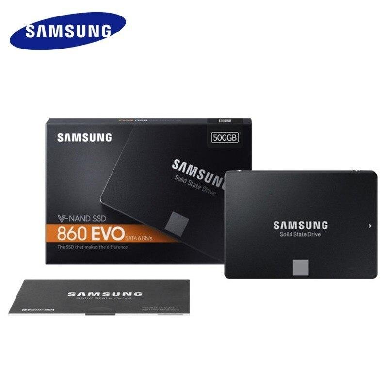 Samsung 860 Evo Ssd 250 Gb 500 GB 1 to disque dur interne à semi-conducteurs disque dur Hdd Sata3 2.5 pouces ordinateur portable Pc disque Hd est Ssd