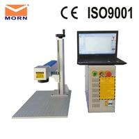 MORN Portable Optical 20w 30w 50w fiber laser marking machine Mini Metal cnc laser level/cutter/engraver for Silver and copper