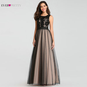 Image 3 - Evening Dresses Long Ever Pretty EZ07788 Sexy A line Tulle Sleeveless Lace Wedding Guest Gowns Cheap Blush Long Formal Gowns